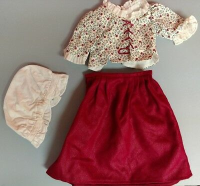 Felicity's Laced Jacket And Petticoat Retired American Girl Doll Outfit