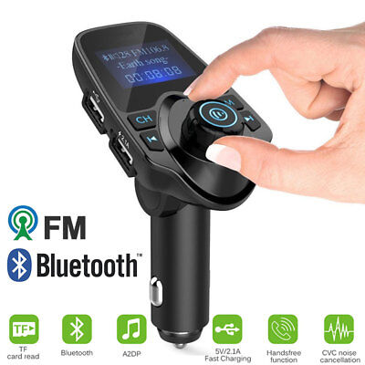 Handsfree Bluetooth Car Kit FM Transmitter LCD TF Radio MP3 Player USB Charger