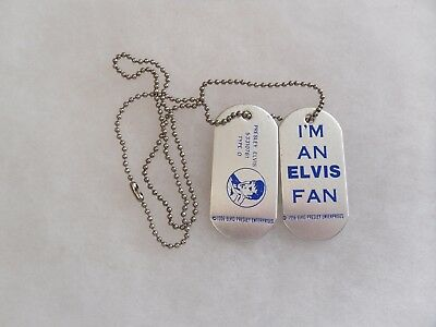 1956 Elvis Presley Enterprises I'm An Elvis Fan Dog Tags