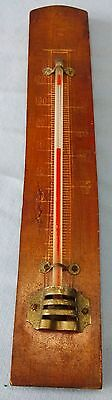 Vintage Thermometer Wood And Metal Wall Thermometer Germany Blood Heat