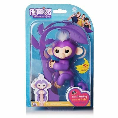 Zoe-Finn Fingerlings Interactive Finger Baby Monkey Toy WowWee Gift Fingerling