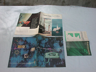 lot 0f 3 - 1960- GT&E, Lockheed - Annual Reports + NYSE: 'The Exchange' - 1/1961