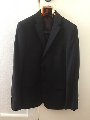 Year 12 Formal Wolf Kanat 2 Piece Suit Jacket Size 100R Pants 88R Black/charcoal