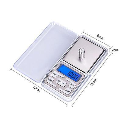 Pocket Digital Jewellery Scale Weight 200/500g x 0.1g 0.01g Balance Precise 3c