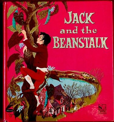 JACK & THE BEANSTALK ~Vintage 1950's Children's STORY HOUR Tell-A-Tale Book