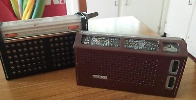 2 x Vintage TRANSISTOR Radios Philips and H.M.V