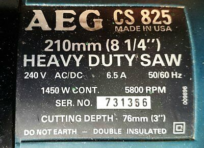 AEG Heavy Duty 210mm  Power saw