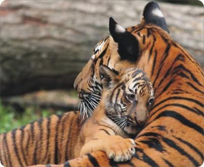 mp0140 Tiger Mother & Cub Warm Mouse Pad