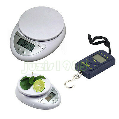 5kg/1g 40kg/10g Digital Electronic Kitchen Food Postal Scale Weight Balance 3c