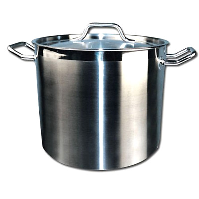 Stock Pot with Cover Stainless Steel 32 Quart Winware  Kitchen Accessories