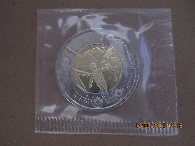"""2014 Canada/Canadian $2 COIN WWII Commemorative """"WAIT FOR ME DADDY"""" Sealed"""