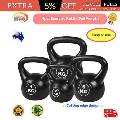 4pcs Exercise Kettle Bell Training Weight Set Fitness 20KG gym workouts dumbell