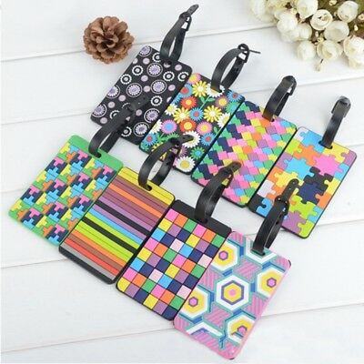 Travel Luggage Tags Labels Strap Address ID Name Suitcase Bag Baggage Secure New