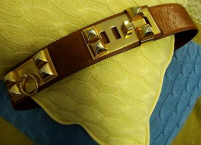 "BELT cintura vintage woman HERMES Paris"" Collier de Chien""  made in France RARE"