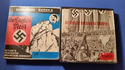 2x200ft Super 8 films.Hitler's Hideout & Nurnberg Rally 1934