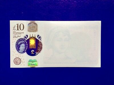 New Ten Pounds Note Error Misprint One Side Rare!!!