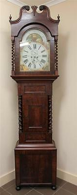 Antique Monumental Georgian Mahogany Longcase Grandfather Clock Moonphase C1830
