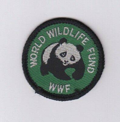 WORLD WILDLIFE FUND Woven badge, featuring a Panda,approx 45mm diameter