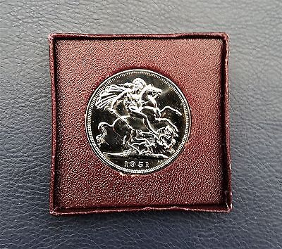 1951 Festival Of Britain 5 Shillings Crown Coin. George VI Boxed. Mint Finish!