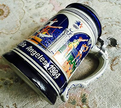Rare Limited Edition 1984 Los Angeles Olympiad German Thewalt Ceramic Beer Stein