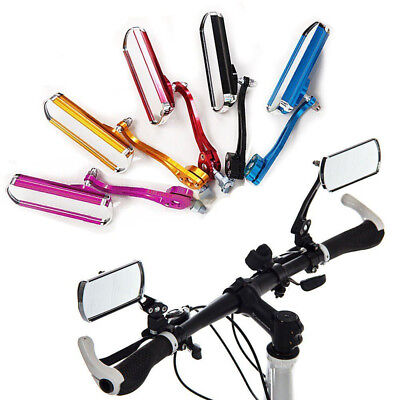 1 Pair Bicycle Bike Cycling Handlebar Rear View Rearview Mirror Rectangle  AU