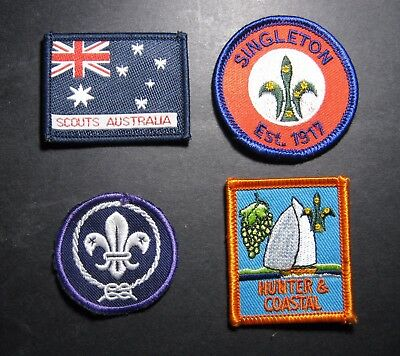 Group Of Four Collectable Scout Badges  . Dr
