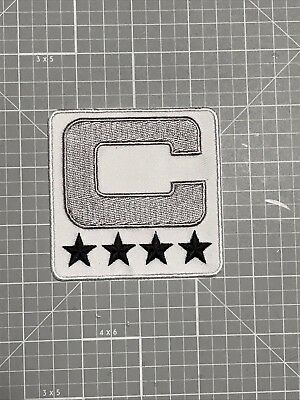 Oakland Raiders SILVER,BLACK & WHITE COLOR RUSH 4 STAR CAPTAINS JERSEY PATCH NEW