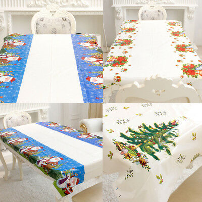Household Disposable Tablecloth Christmas Series Family Party Table Decor Supply