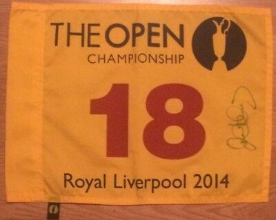 Signed Rory McIlroy Royal Liverpool Open Golf Championship 2014 Pin Flag PROOF !