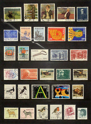 Good selection of used stamps from Norway 1982-84