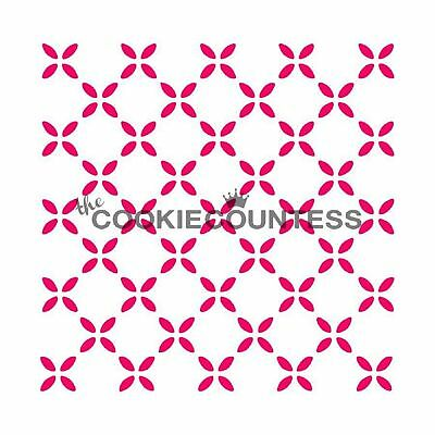 The Cookie Countess COUNTRY FLOWERS Stencil - biscuit, cake, craft