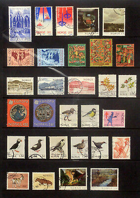 Good lot of used stamps from Norway 1980-82