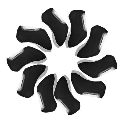 10pcs Hot Neoprene Golf Club Headcovers Soft Head Cover Iron Protect Set OS952