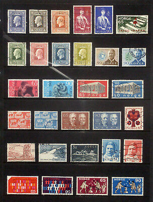 Good lot of used stamps from Norway 1968-70