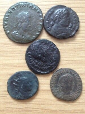 Lot 1. 5  unresearched top quality ancient roman coins