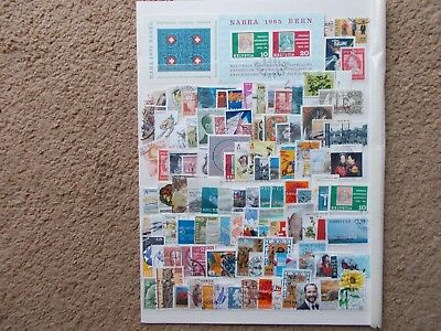 Scandinavia stamps used of paper lot 2