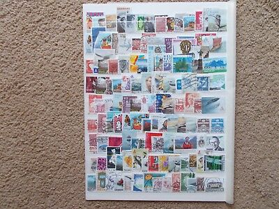 Scandinavia stamps used of paper lot 4