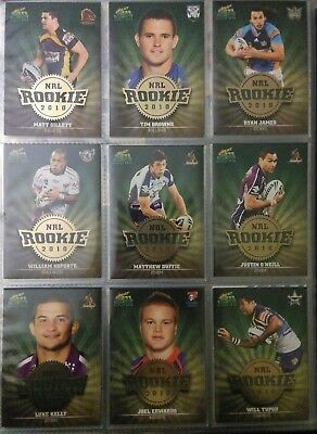 2011 Select NRL Champions Trading Cards Rookie 2010 single cards $3.50 each.