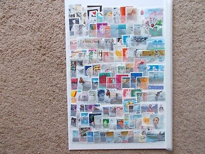 Scandinavia stamps used of paper lot 8
