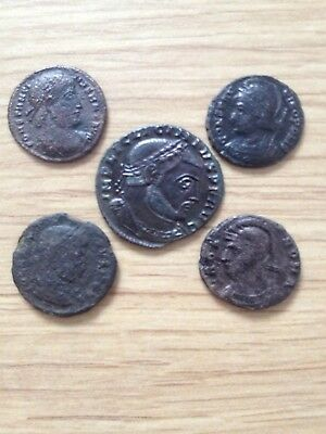 Lot 5. 5 Unresearched Top Quality Ancient Roman Coins