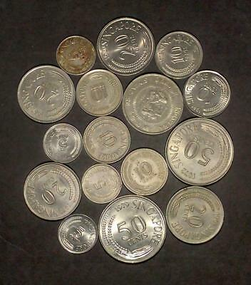Selection of coins from Singapore (65g)