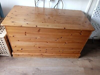 Handmade solid pine blanket box/toy box.