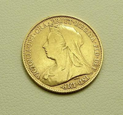 1894 Gold Half Sovereign Queen Victoria Old/Widow Head George & the Dragon Back