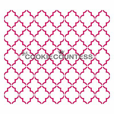 The Cookie Countess SMALL QUATREFOIL Stencil - biscuit, cake, craft