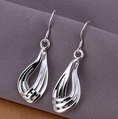 Gift wholesale  Jewelry Solid Silver beautiful Earrings Q925