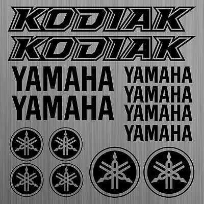YAMAHA KODIAK sticker decal quad ATV 14 Pieces