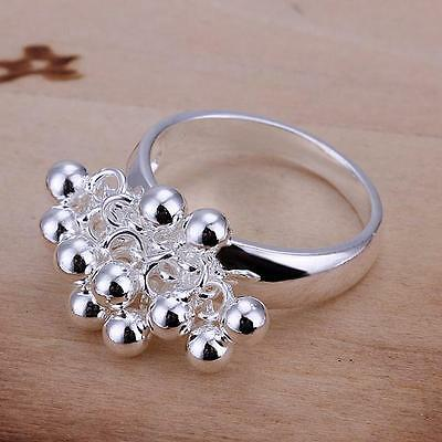 New Fashion Jewelry Silver Beautiful Mens Womens 925Solid Silver Opening Ring