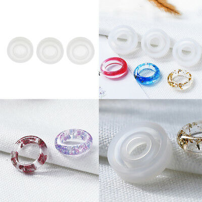 3pcs Silicone DIY Ring Mold Resin Craft Jewelry Making Rings Mould Tools