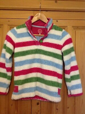 Joules girls bright striped fleece age 9-10