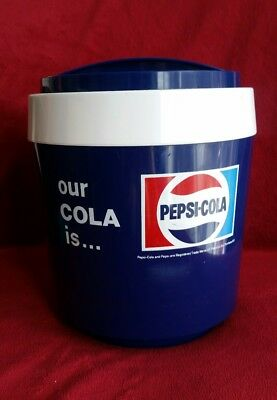 Rare Vintage Retro Pepsi Cola Promotional Ice Bucket Made By Stewart